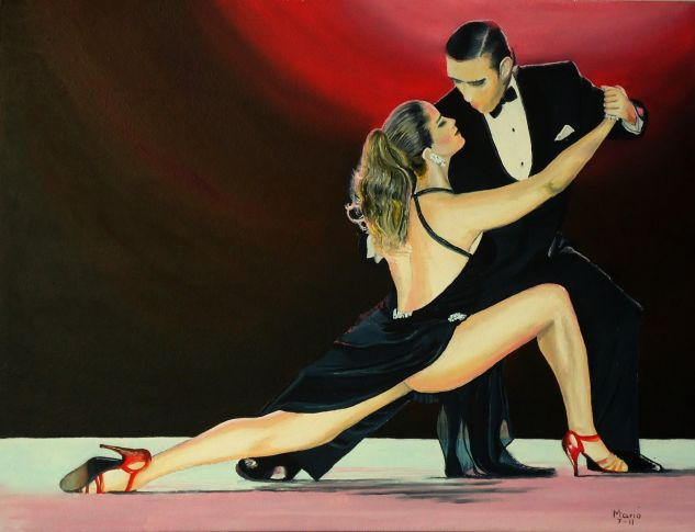 Tango Luengo Figure Painting Canvas Oil