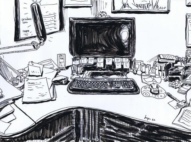Delante de mi ordenador Making Pen