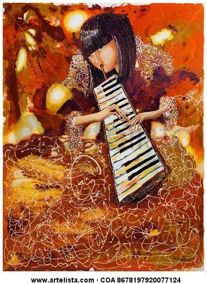 Sounds of Music III Figura Acrílico Lienzo