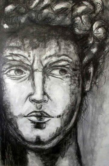 El David  Otros Lápiz (Negro) Lienzo