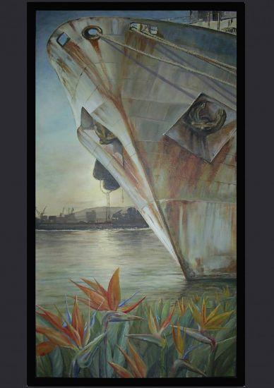 FLORES DEL PARAISO Tabla Acrílico Marina
