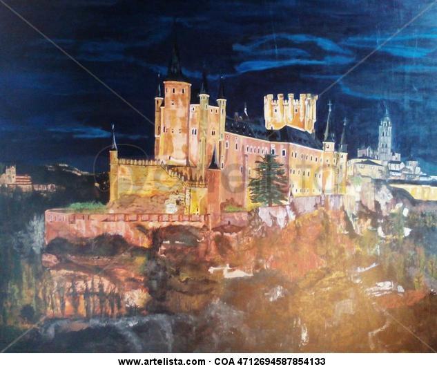 Alcázar Segovia Acrílico Paisaje Tabla
