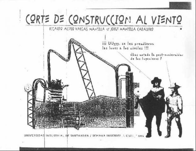 corte de construcción al viento