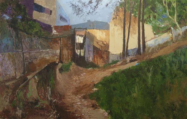 Camino rural_Barcelona_Catalunya_ 116X73 cm. Lienzo Acrílico Paisaje