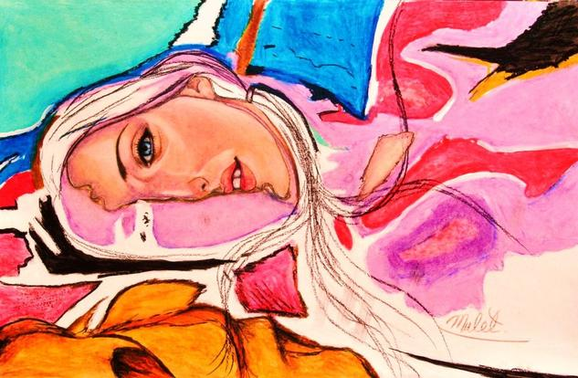 Relaxing Card Pastel Nude Paintings