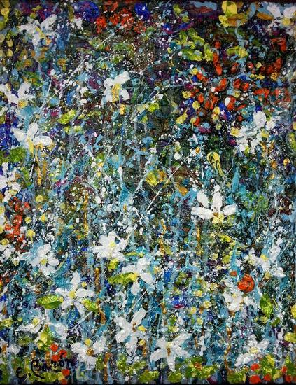 Silvestre 11  Canvas Mixed media Floral Painting