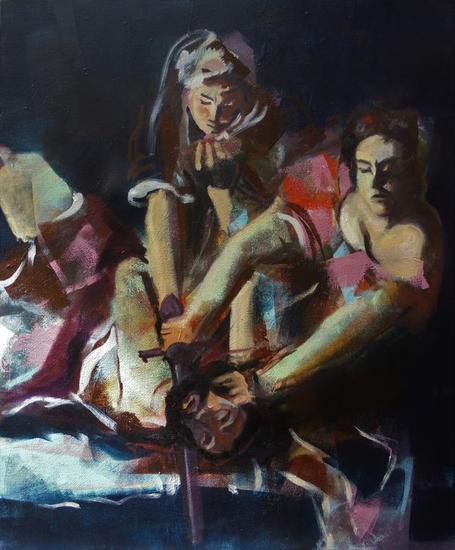 Judith Figure Painting Canvas Acrylic