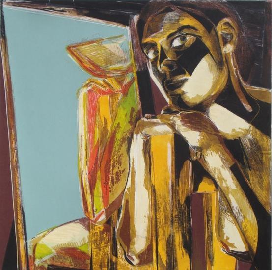 Mujer ante el espejo XVI Monograbado
