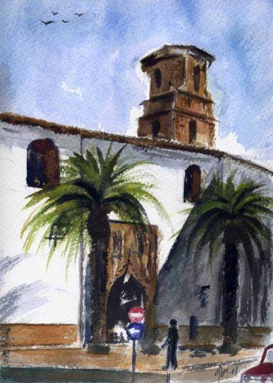 San Bartolomé de Andújar Papel Paisaje Acuarela