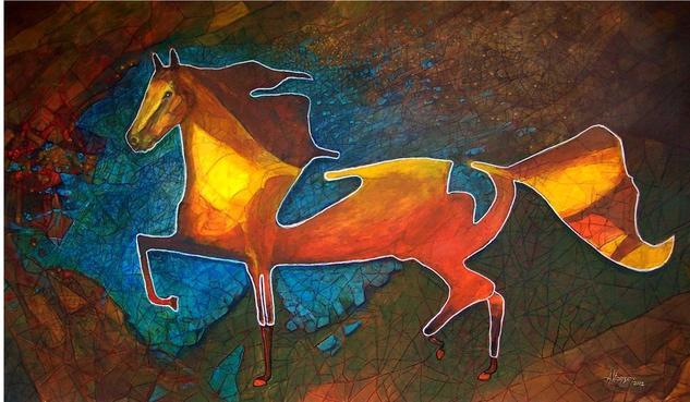EQUUS II  (2012) Lienzo Acrílico Animales