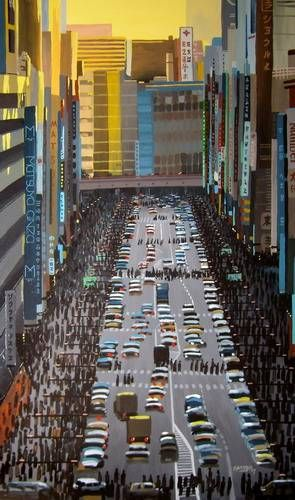Ginza, Tokyo #4 Tabla Otros Paisaje