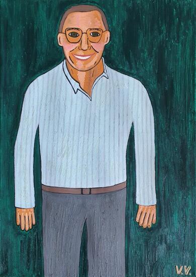 Mi tío Miguel Retrato Óleo Lienzo