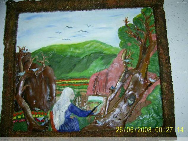 linda pintando Óleo Lienzo Paisaje
