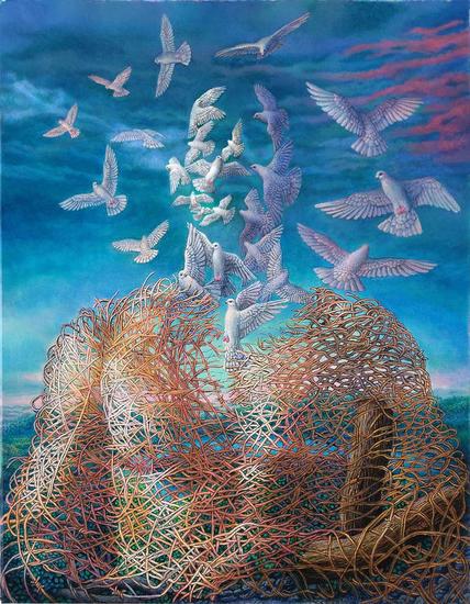 Redescubriendo el Cielo Figura Acrílico Lienzo