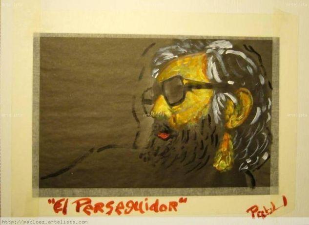 El perseguidor Acrílico Cartulina Retrato