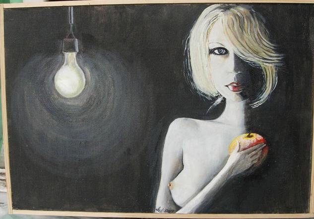 Luz Retrato Óleo Tabla