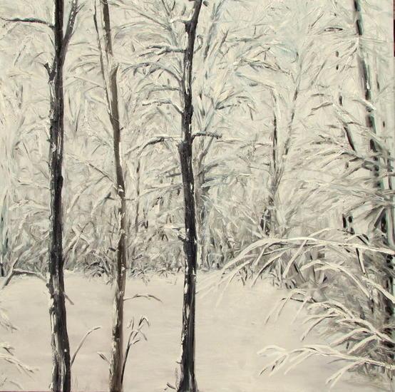 Bosque nevado (2) Ref.108 Lienzo Óleo Paisaje