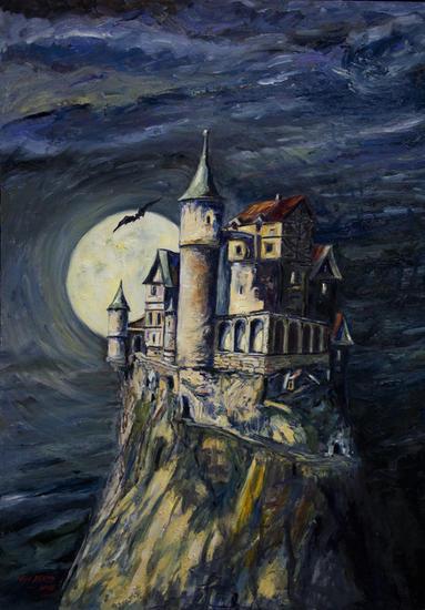 Castillo de Drácula Tabla Óleo Otros