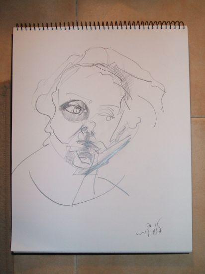 feliz cumpleanos Lápiz (Negro) Lienzo Retrato