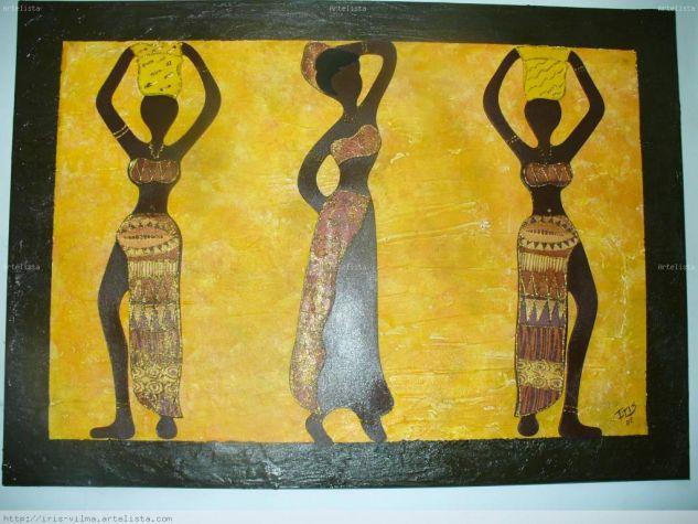 negras africanas Óleo Lienzo Paisaje