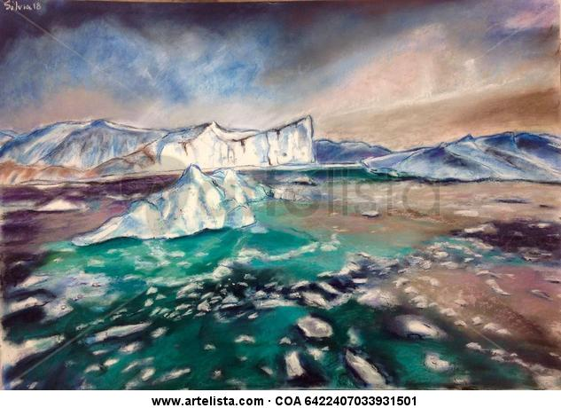 Icebergs Tabla Pastel Marina