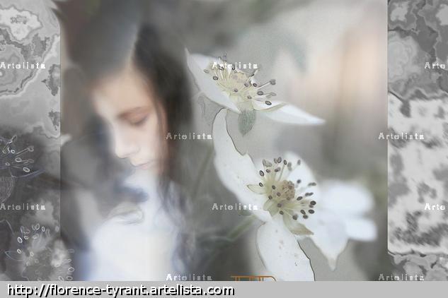 fleur à coeur