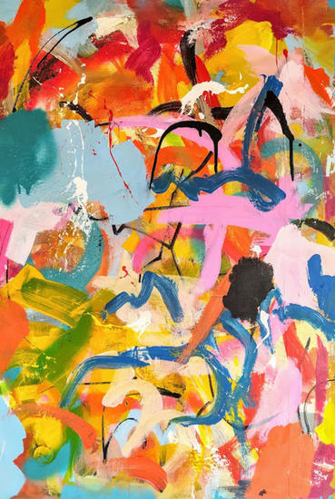 No thinking only painting 3 Otros Media Mixta Lienzo