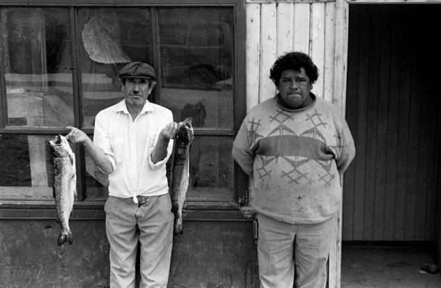 Pescadores Blanco y Negro (Química) Retrato