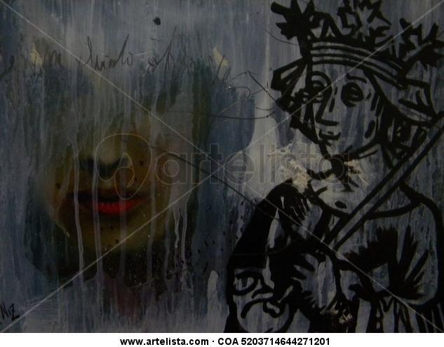 se me olvido otra vez Mixed media Figure Painting Paper