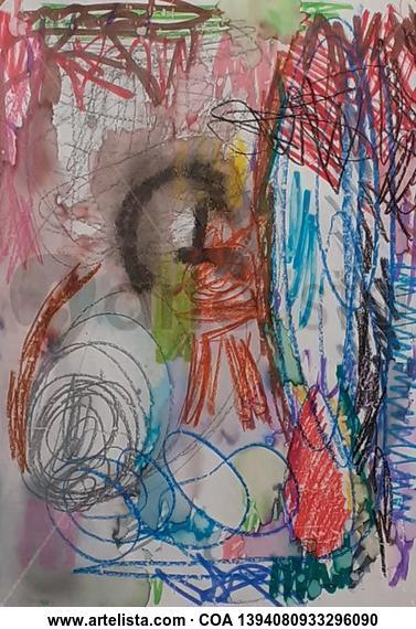 Abstracto 3 Paisaje Media Mixta Cristal