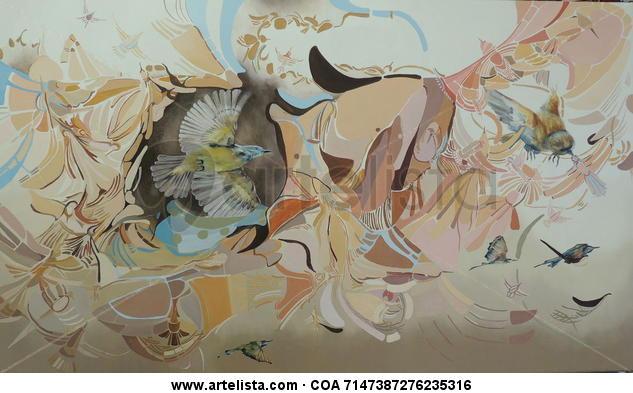 Sin titulo Oil Animals Canvas
