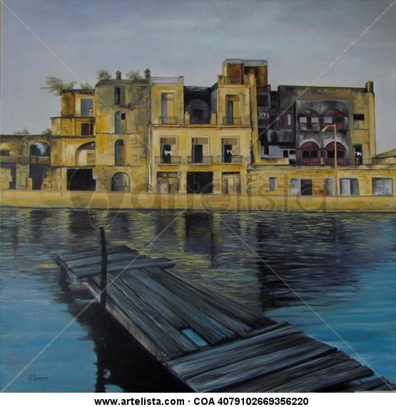 Puerto de Matanzas-Cuba Lienzo Óleo Paisaje