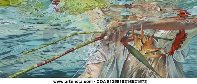 En un mar extraño Canvas Oil Figure Painting