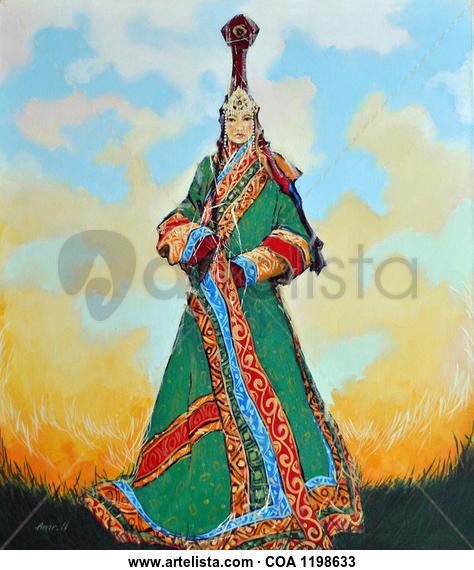 Ancient Queen Retrato Óleo Lienzo