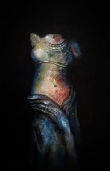 Cinturón de fuego en penumbra Figura Acrílico Lienzo