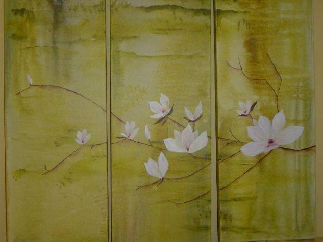 Magnolias Acrílico Lienzo