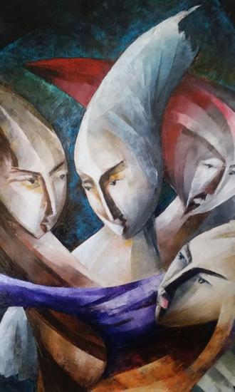 El Sueño de Artemisa Tela Óleo Retrato