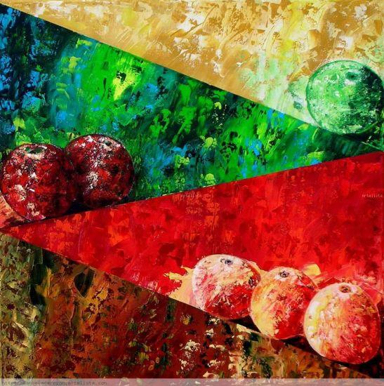Manzanas Acrílico Lienzo Bodegones
