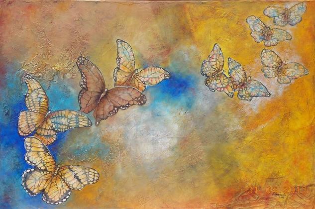 Mariposas Animales Lienzo Óleo