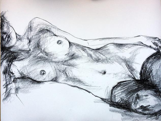 Desnudo al carboncillo Charcoal