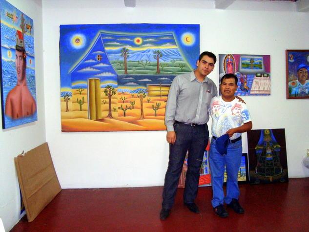 RETRATO CON EMMANUEL ESPINTLA EN MI TALLER Color (Digital) Retrato
