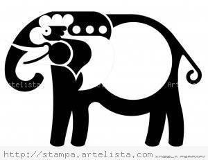 Elephant's Journey / El viaje del elefate / A viagem do Elefante Tinta Papel Animales