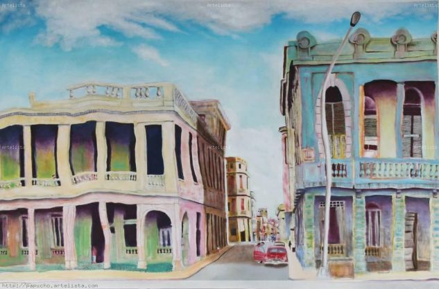 Calle de la Habana Acrílico Lienzo Paisaje