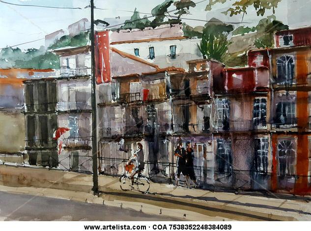 Oporto Paper Watercolour Landscaping