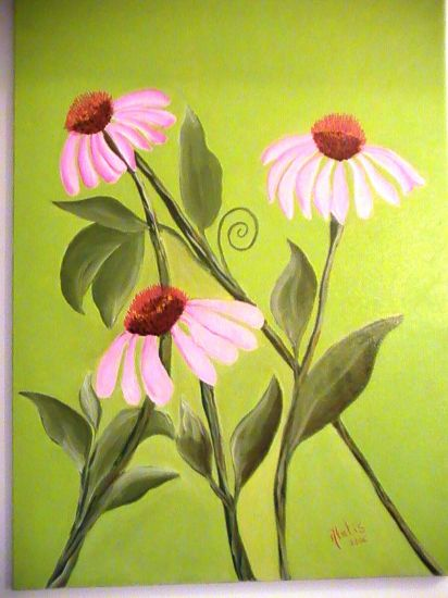 Flores modernas Oil Canvas Floral Painting