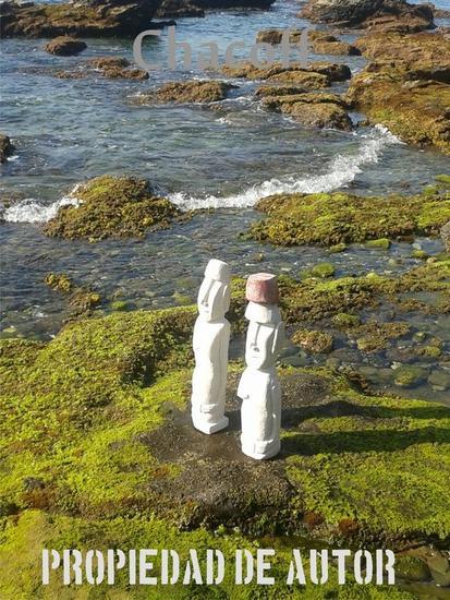 Replica Moáis en la Isla - talla en piedra Piedra Figurativa