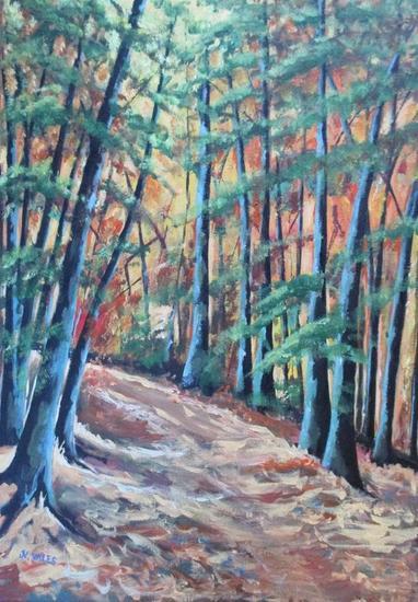 Serie árboles. Acrílico Paisaje Lienzo