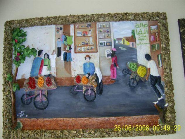vendedores de fruta Óleo Lienzo Paisaje