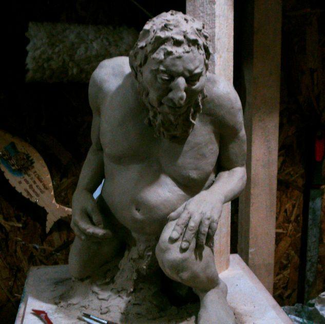 Maqueta para escultura monumental Figurativa Cerámica