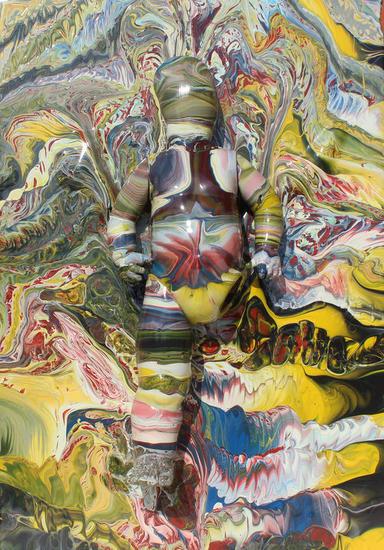 La fuerza individual Figura Acrílico Cristal